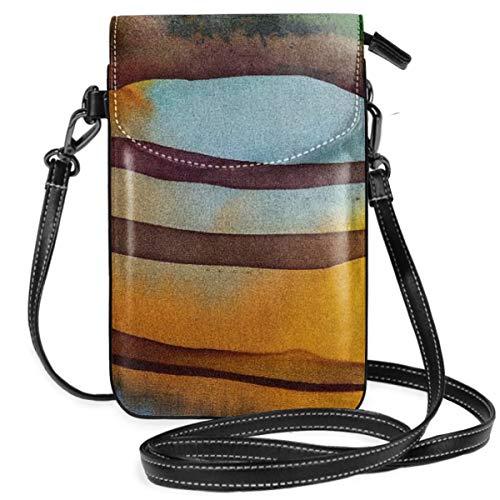 LEPO'S Handy-Umhängetasche Tasche Handtasche Reis-Terrassen-Fragment-heißer Batik Crossbody Smartphone Geldbörse