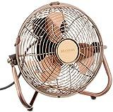 Brandson - Windmaschine Retro Stil - Ventilator im Kupfer Design - Standventilator 32 Watt - Tischventilator Standventilator - hoher Luftdurchsatz - stufenlos neigbarer Ventilatorkopf
