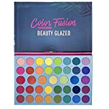Beauty Glazed Paleta de polvo de sombra de ojos de 39 colores Brillo Sombra de ojos dorada brillante Brillo altamente pigmentado y polvo liso metálico mate Maquillaje de ojos brillante natural