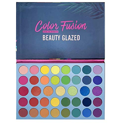 Beauty Glazed Color Fusion 39 Shades Metallic- und Shimmers-Lidschatten Hochpigmentiertes Make-up...