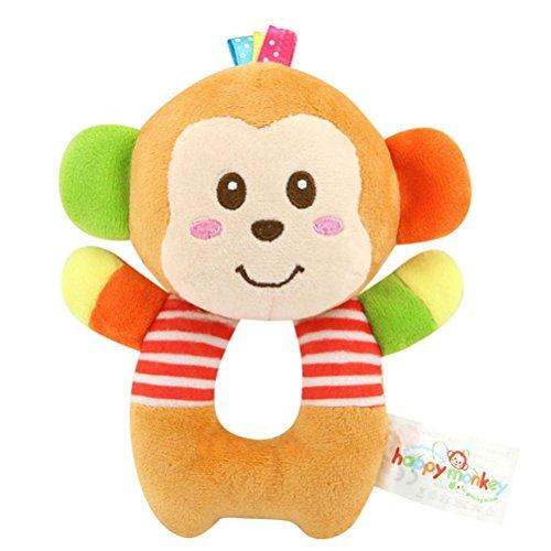TOYMYTOY Bebé recién nacido suaves rattle Juguetes de traqueteo Juguetes de felpa para niños (Mono)