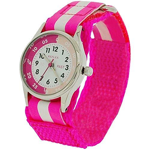 Reflex Mädchen Analog Quarz Uhr mit Stoff Armband REFK0006
