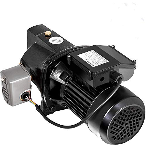 Happybuy Shallow Well Jet Pump with Pressure Switch 1/2HP Jet Water Pump 157 ft Cast Iron Jet Pump to Supply Fresh ell Water to Residential Homes Farms Cabins