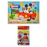 Disney Mickey Mouse Table Topper Disposable Stick-on Placemats in Reusable Package, 12' x 18', 18 Count
