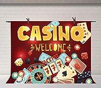 HD10x7ftカジノの背景赤いカジノチップトランプの背景カジノクラブのポスター写真の小道具壁紙の装飾の背景BJDSFU24