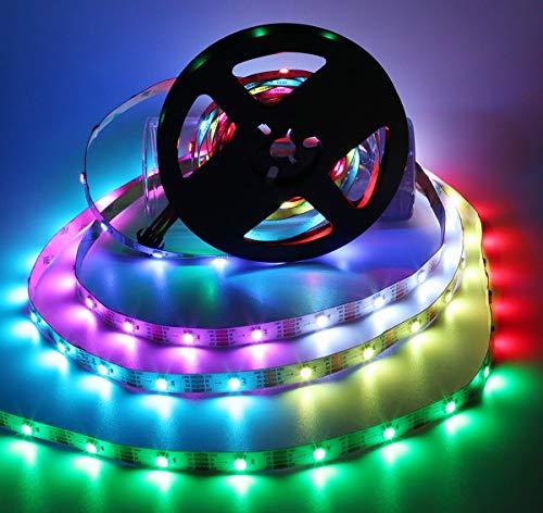 XHCP Luce , Colore , Decorazione Striscia LED CS8812, 16.4ft 150leds DC12V (WS2813 aggiornato) Striscia LED Digtal RGB indirizzabile Individualmente, 5050 SMD PCB Bianco Non Impermeabile