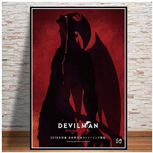 wzgsffs Devilman Crybaby Japan Anime Comic Movie Gift Poster and Prints Wall Art Print En Lienzo para La Sala De Estar Home-20X30 Inchx1 Frameless