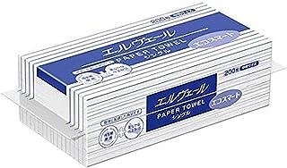 エリエール 大王製紙 エルヴェール ペーパータオルエコスマート シングル200枚 中判 ×35袋 703510