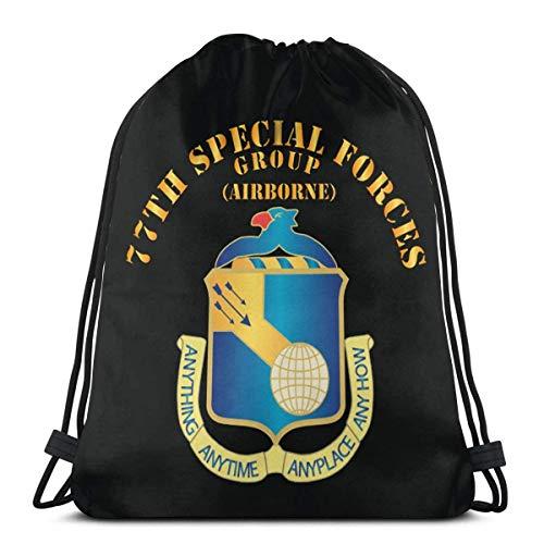 77th Special Forces Dui Wo Ds Zaino con coulisse Zaino Borsa a tracolla Borsa da palestra