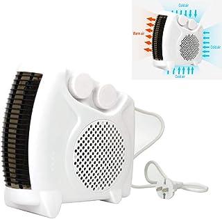 H.L Calentador eléctrico, Mini Pared Soplador de Aire Caliente Escritorio Hogar Pared Calefactor Estufa Estufa Radiador Calentador Máquina Mini Ventilador para el Invierno