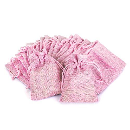 Wolfteeth 20 pz 12 x 9 cm Sacchetti Regalo Caramella portaconfetti Bustine per Battesimo Matrimonio Confetti Gioielli – Rosa
