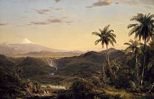 Kirche–Cotopaxi Ecuador–A3Größe strukturierten Papier drucken (Limited Edition)
