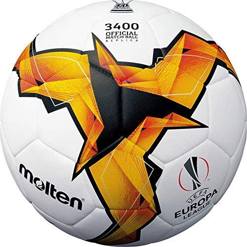 Molten Fußball F5U3400-K19 UEFA 2018/19 Replika Trainingsball weiß orange Gr 5