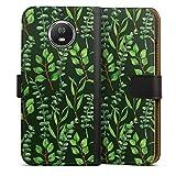 DeinDesign Étui Compatible avec Motorola Moto G5s Étui Folio Étui magnétique Eucalyptus Feuilles...