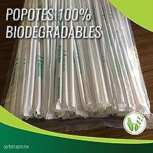 Popotes Biodegradables Tierra Sana, Hechos con Maíz,