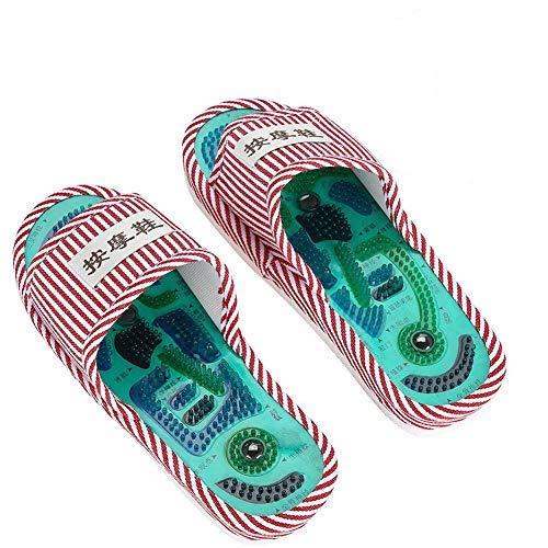 Akupressur Massage Hausschuhe, Magnetische Therapie Massage Schuhe Massage Hausschuhe Gesundheitspflege Blut Aktivierung Fuß Entspannung Massage Schuhe für Männer und Frauen (Frau)