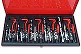 Kit riparazione ripristino filetti/filettature/elicoidi maschi 131 pz c/valigetta metallo...