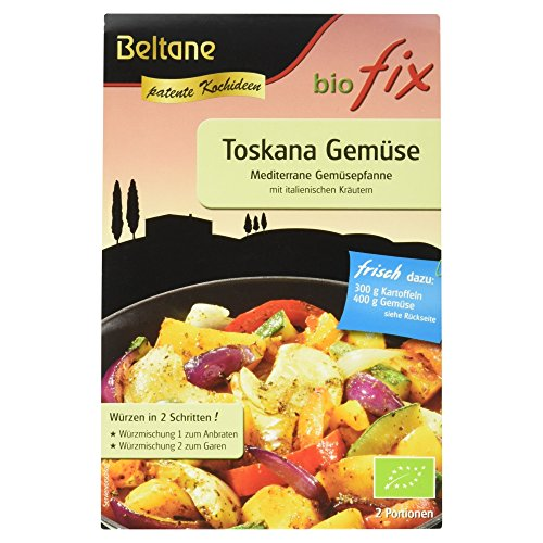 Beltane Biofix für Toskana Gemüse Mediterrane Gemüsepfanne, glutenfrei, laktosefrei, vegan, 19 g