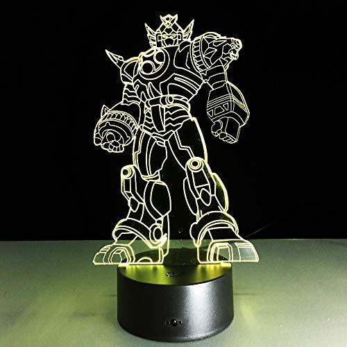 Lámpara de deformación Juguete para niños muñeca móvil Robot Noche luz Color niño Regalo