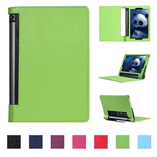 Asng Lenovo Yoga Tab 3 Plus/Yoga Tab 3 Pro 10 Case - Slim Folding Cover with Auto Wake/Sleep for Lenovo Yoga Tab 3 Plus YT3-X703F / Yoga Tab 3 Pro YT3-X90F 10.1-Inch Tablet (Green