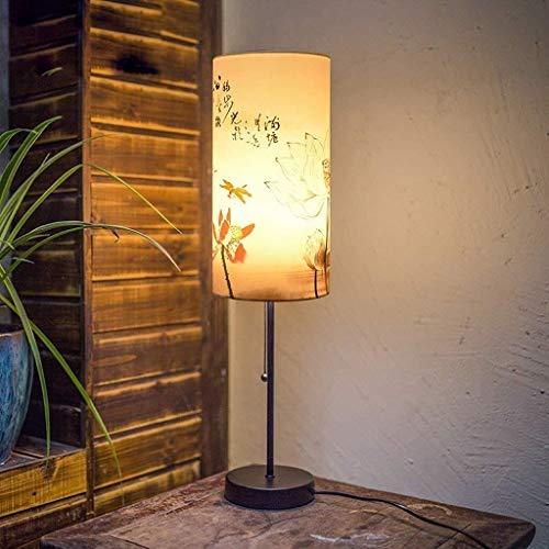 DJSMtd Einfache Tischlampe kreative Nachttischlampe dekorative Leuchten, Tuch Licht Schatten Schlafzimmer Arbeitszimmer Wohnzimmer Tischlampe Schreibtischlampe E27 (Color : E-15 * 58cm)