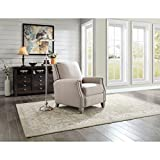 Better Homes and Gardens Pushback Recliner, Beige Fabric Upholstery