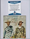FLORIDA GEORGIA LINE signed (LIFE ROLLS ON) CD cover W/CD BECKETT BAS Y75150 - Beckett Authentication - Music Albums