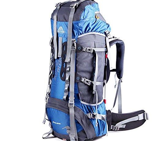 Outdoor randonnée extérieure étanche du sac à dos et résistant à l'usure grande capacité sac à dos 65 + 10 L , blue