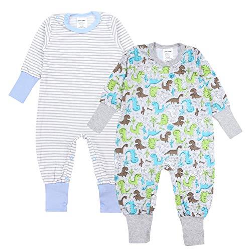 TupTam Baby Jungen Schlafstrampler Gemustert 2er Pack, Farbe: Farbenmix 2, Größe: 62-68