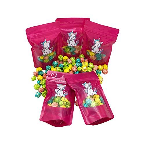 Kindergeburtstag Mini Tüten Buntes Einhorn Popcorn & Piraten Popkorn Mitbringsel Party Give Away Geschenktüten aus Brandenburger Manufaktur (Einhorn 5 Beutel)
