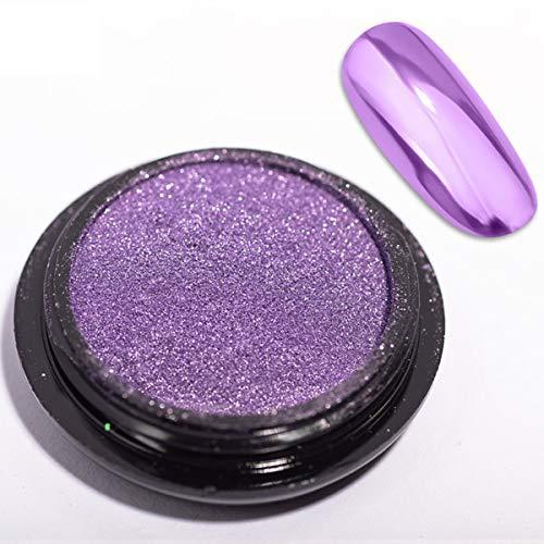 1 Jar Magic Powder Mirror Effect Chrome Nail Powder Metallic Nail Manicure Pigment