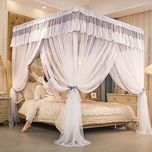 Mosquito Net Bed Canopy Mesh Protect Against Insects Polyester Insect Protection Curtain For Girls Princess Bedroom Home Decoration Gifts-B_180x220CM