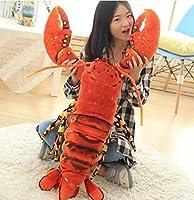 ロブスターぬいぐるみ ザリガニおもちゃ  蝦  ロブスター イセエビ 抱き枕 ふわふわ 本物そっくり プレゼント お祝い 110cm