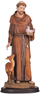 George S. Chen Imports 5-Inch Saint Francis Holy Figurine Religious Decoration Statue Decor