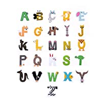 XUNHUI ワッペン アルファベット セット 刺繍用 かわいい 男の子 女の子 イニシャル アップリケ おしゃれ アイロン接着 手芸用 刺繍用品