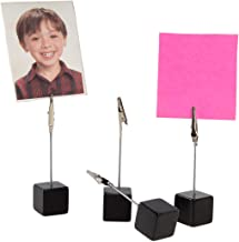 (4 Pack) Cube Photo Holder Clip Stand Display Pictures Notes Dresser Nightstand Desk Wedding Table
