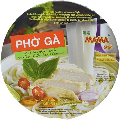 MAMA Instant Reis Nudeln Pho Ga Schüssel, 6x65 g