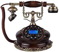 $131 » Landline Phones for Home,landline Phones Antique Telephone European Classic Vintage Resin Home Corded Phone Push Button di...
