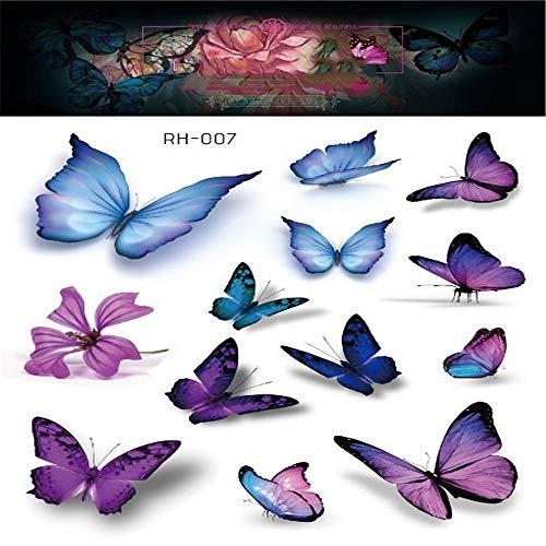 adgkitb Dreidimensionale Schmetterling Tattoo Aufkleber Traum Schmetterling Persönlichkeit Arm zurück Tattoo 7 15x10.5cm