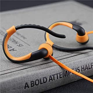 Player USB Neckband Sports Running Mp3 with Earphone Support 16GB Micro SD TF Card XSWFF (Color : Orange)