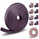 LinGear Kit Protector de Esquinas y Bordes Grueso para Bebés y Niños, 1 Rollo de 5m y Juego de 8 Cantos Protección Bebé en Casa No Tóxico para Mueble, Mesa, Esquina de Pared (Morado)