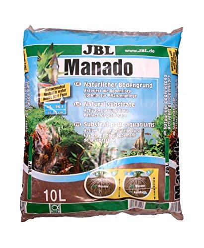 JBL Manado, Natürlicher Bodengrund mit Nährstoffspeicher, Reich an Eisen, 10 l