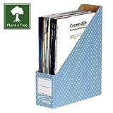 Bankers Box Style Series Stehsammler aus 100% recyceltem Karton, 10-er Pack, blau/weiß (Home)