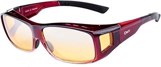 Duco Night Vision Glasses Polarized Wrap Around Prescription Eyewear