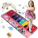 Shayson - Alfombrillas Musicales para niños, Alfombrilla para Piano con música para bebés, Manta de Animales, Alfombrilla táctil, Juguetes educativos tempranos para niñas (Rosa)