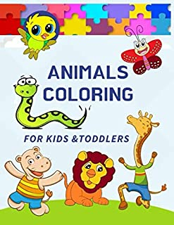 Animals Coloring for Kids & Toddlers: 100+ images of Animals Coloring Book for Smart Kids 🦁 Dinosaur Coloring Book, Sea Animals Coloring Book, Wild ... Pack for Kids. Hours of Fun & Early Learning