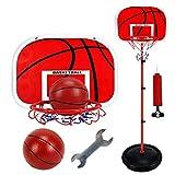 TCATEC ミニバスケットゴール ミニインドアバスケットボールフープ 子供用 室内 高さ調節可能73-170cm