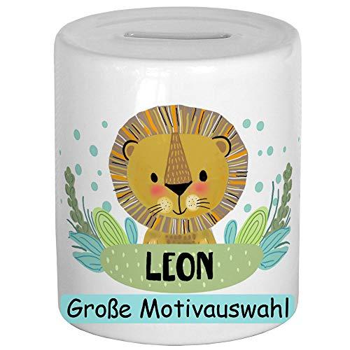 My Sweetheart® Personalisierte Spardose mit Namen Löwe Sparschwein Kinder Geldgeschenke zu Weihnachten Geburtstag Kind