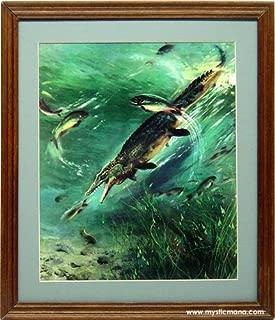 Paleoart Ancient Marine Reptile framed print, Natural History Display