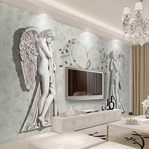 WFMJJ behang op maat 3D muur muurschilderingen Wallpaper Papel De Parede Engel Waterdicht Canvas Schilderen Woonkamer Slaapbank TV Achtergrond Decor Sticker 1 ㎡